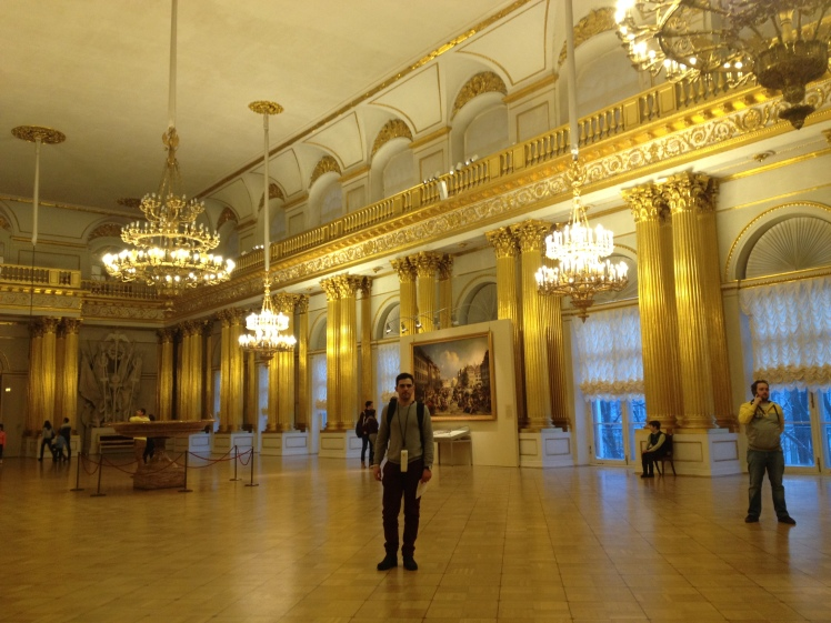The golden hall at Hermitage Museum