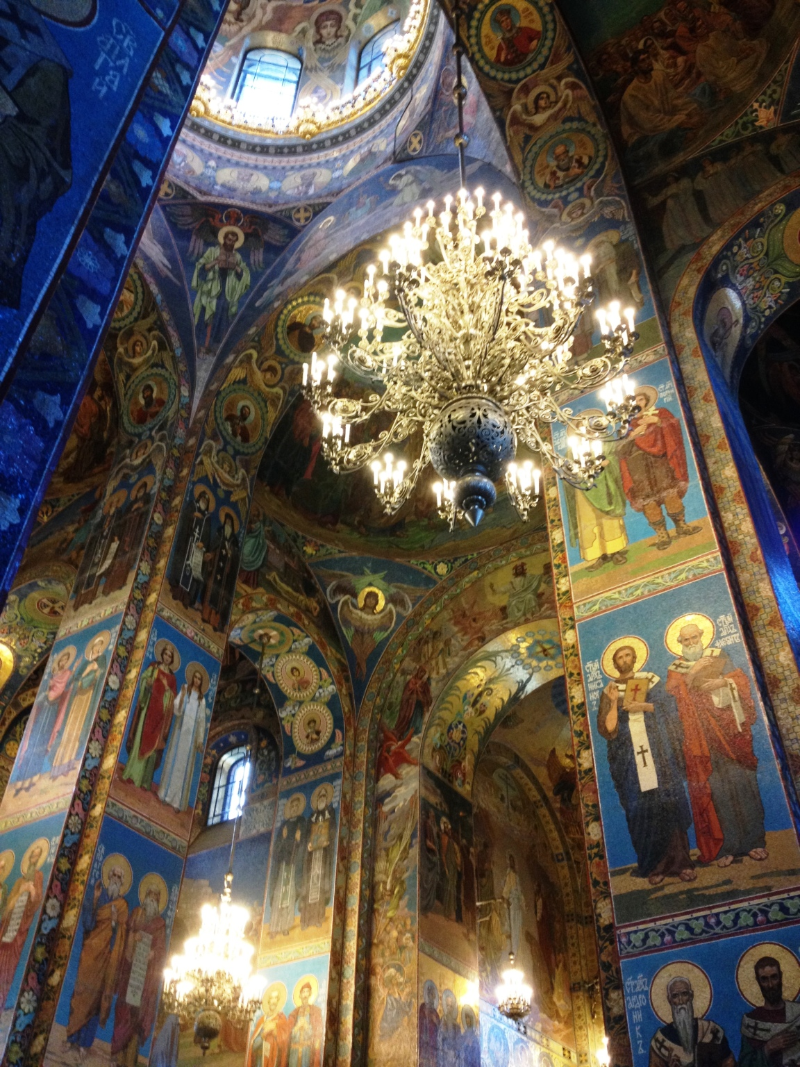 Exquisite interior of the Spilled Blood church