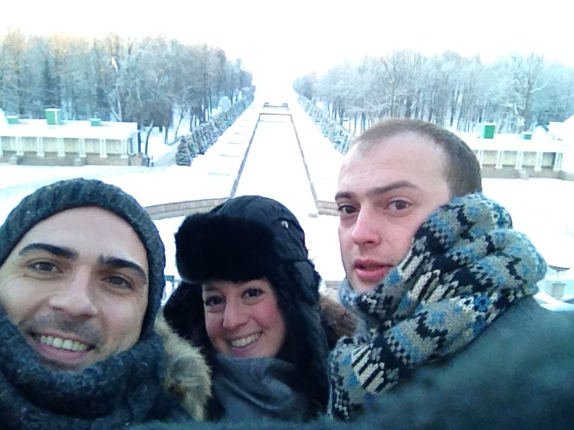 Cold faces at Peterhof summer palace