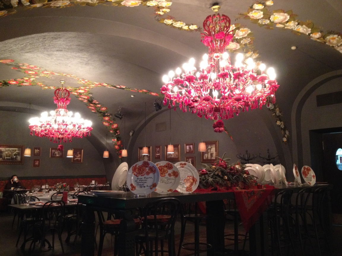 Nice venue with good traditional Russian food