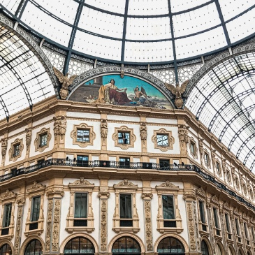 Galleria Vittorio Emanuele II, the oldest mall in Milan, Italy housing some of the most luxurious brands