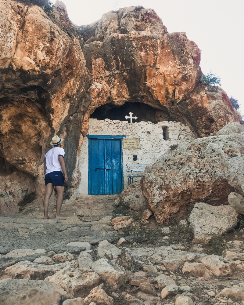 "Ayioi Saranta is a quirk church embedded in the rugged rocks of an unspoiled hill. located in Protaras, Cyprus. The church's name means ""Forty Saints"", possibly inspired by the forty stalactites hanging from the ceiling.⁣⁣⁣"