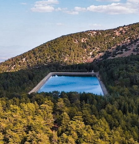 Prodromos Dam from a bird's-eye view